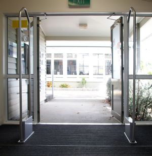 School library security gates